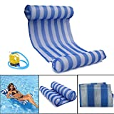 OUTERDO Water Hammock Pool Lounger Float Hammock Inflatable Rafts Swimming Pool Air Lightweight Floating Chair Compact and Portable Swimming Pool Mat for adults and Kids