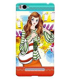 Fuson Nice Girl Back Case Cover for XIAOMI Mi4i - D4122