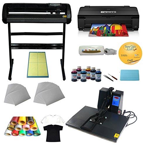 """34""""Cutter Plotter Heat Transfer Press A3 Printer Ink Paper T-Shirt Start-Up Kit"""