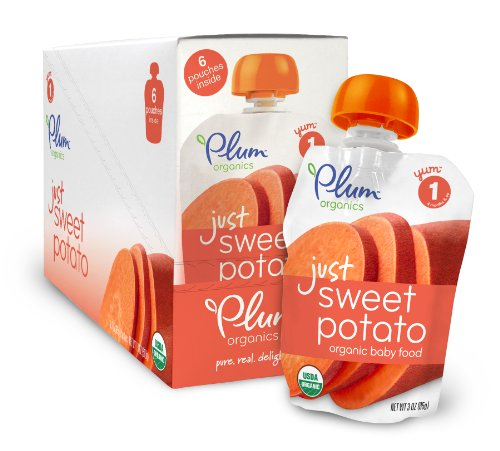 Plum Organics Baby Just Veggies, Sweet Potato, 3 Ounce (Pack of 12) (Baby Food Sweet Potato compare prices)