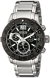 Invicta Men's 10591 Ocean Reef Reserve Chronograph Black Dial Stainless Steel Watch