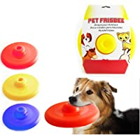 Dog Pet Frisbee Toy Flying Disc Trainning Puppy Flyer Throwing Fetch Catcher New