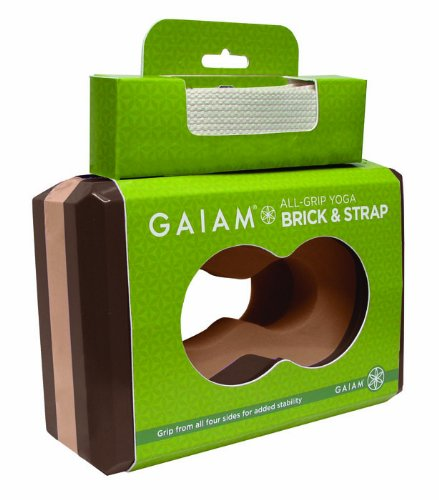 Gaiam Yoga Best Gaiam All Grip Block And Strap Combo Chai Tan On Sale