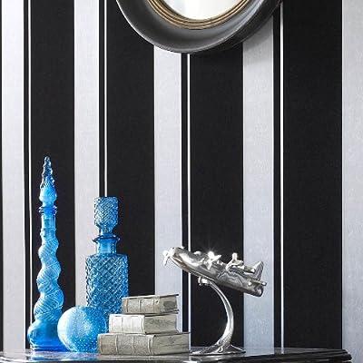 Llb Real Flock Black Wallpaper Flock Star Stripe by 4YourWalls