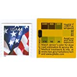 RADStickerTM peel & stick, nuclear radiation exposure determining dosimeter