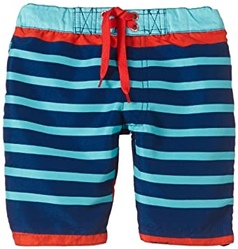 NAME IT Jungen Badeshorts ZAPTIL MINI LONG SHORTS 214, Gestreift, Gr. 104, Mehrfarbig (Blue Depths)