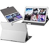 UltraSlim Case Tasche Samsung Galaxy Tab Pro 10.1 T520 WiFi T525 4G/LTE Schutzhülle Ledertasche Cover Hülle in Weiß