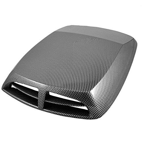 TOOGOO (R) Auto Mini Kohlefaser Motorhaube Lufteinlass Dekoration
