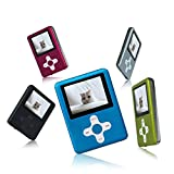 Lecmal Portable MP3/MP4 Player Music Player Voice Recorder with 32G Micro SD Card Mini USB Port - Economic Multifunctional MP3 Player / MP4 Player Media Player Flash Disk (Blue)
