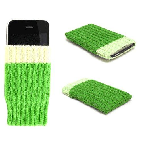 """Einzigartige Handy-Socke / Hülle / Schale """"Wow"""", grün, geeignet für Samsung Duos Touch . Original Schale / Hülle / Folie & Tasche für Handys"""