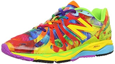 New Balance Women's W890 Alpha Running Shoe,Yellow Multi,5 B US