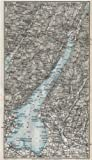 LAKE LAGO DI GARDA. Vintage map plan. Salo Riva. Italy;1924