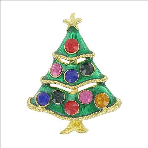 Christmas Tree with Stone Pin #041886