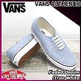 VANS(バンズ) オーセンティック AUTHENTIC Faded Denim/True White/メンズ(men's) 靴 スニーカー(VN-0VOECD8)