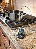 Polder Digital In-Oven Thermometer/Timer, Graphite color