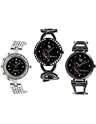 CB Fashion Combo Of Analog Multicolour Dial Women's Watch (RW211)