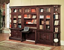 "Hot Sale Parker House Furniture Sterling Library Desk & 32"" Bookcase Wall"