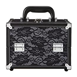 Caboodles Black Lace Cosmetic Case - 9.5'' : Target