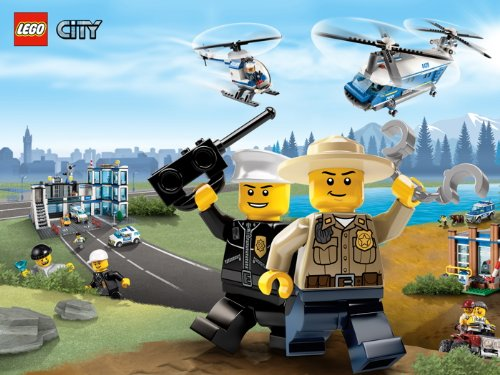 Lego City Cops Kids 24x18 Print Poster