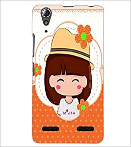 PrintDhaba Cute Doll D-5626 Back Case Cover for LENOVO A6000 (Multi-Coloured)
