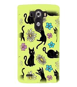 PRINTSWAG CAT PATTERN Designer Back Cover Case for LG G3