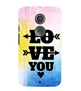 EPICCASE love arrows Mobile Back Case Cover For Moto X 2nd Gen (Designer Case)