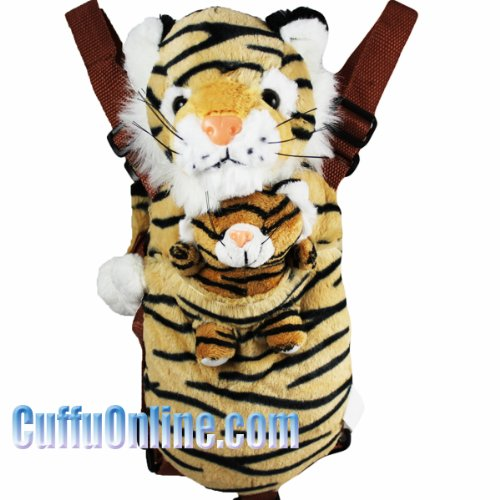 Cuffu Tiger STUFFED ANIMAL for Children with Tail Leash, Perfect Gift Idea for Age 3-10