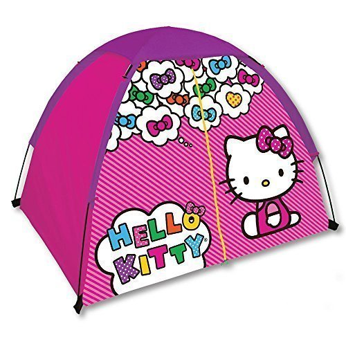Hello-Kitty-Indoor-Outdoor-Dome-Camping-Play-Tent-With-Floor