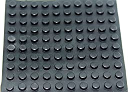 Black Cylindrical Self Adhesive Rubber Foot or Feet Bumpers 100 Count Commericial or Residential Useage By: Blaydessales