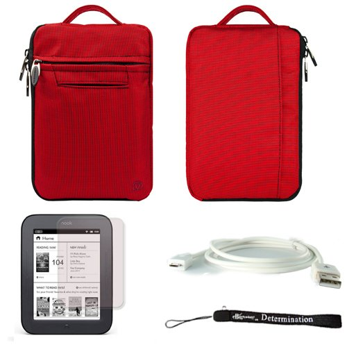 red-mighty-nylon-jacket-slim-compact-protective-sleeve-bag-case-with-accessories-compartment-for-bar