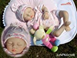 Best Deals Reborn Doll Isabella Lifelike Baby Doll(eyes:closed) 22 Inch