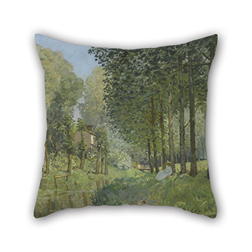 [Loveloveu Oil Painting Alfred Sisley - Rest Along The Stream. Edge Of The Wood Pillowcase ,best For Kids Girls,dining Room,teens Boys,floor,gf,kids 16 X 16 Inches / 40 By 40 Cm(both] (Dark Souls Black Knight Costume)
