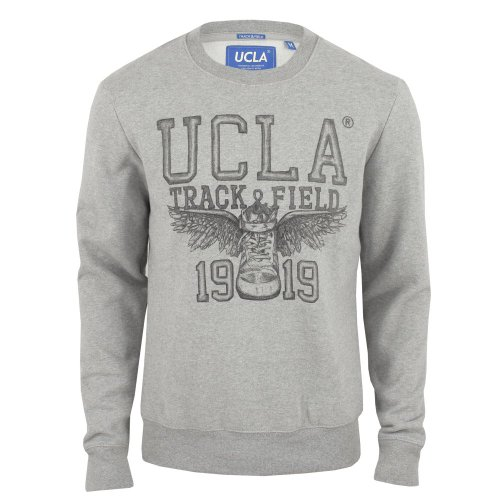 UCLA Mens Brennam Winged Trainer Sweatshirt Grey-Marl XX-Large