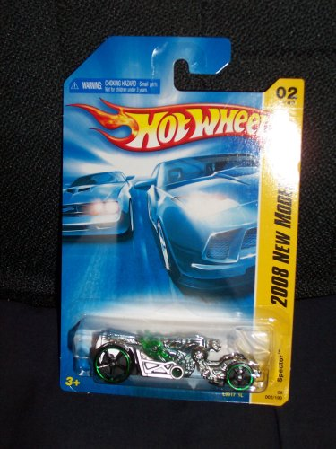 Hot Wheels 2008 002 2 2008 New Models Spector Green and Silver