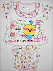 Bubbles Dress With Bloomer Diaper Cover - Pink (0-4 Months)