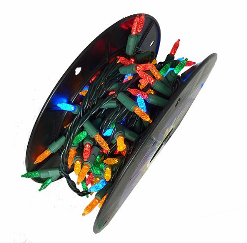 200 Commercial Length Multi-Color Led M5 Christmas Lights On Spool - Green Wire