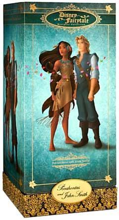 Disney Pocahontas and John Smith Doll Set - Disney Fairytale Designer Collection