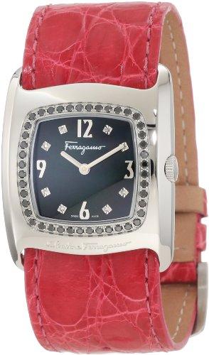 Ferragamo Women's F51SBQ9099i S703 Vara Black Mother-Of-Pearl Diamond Watch