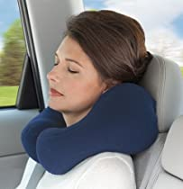 Best Price Navy Blue Ergonomic Travel Neck Pillow, Cervical Neck