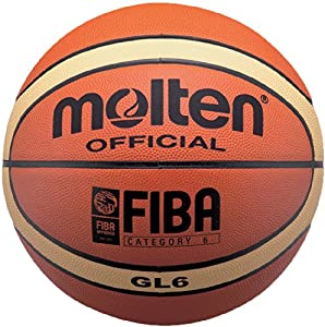Molten BGL6 Leather Basketball, Official Basketball of FIBA - Size 6