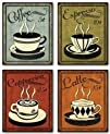 Retro Coffee Set by N. Harbick 8x10 Art Print Poster