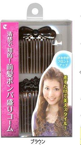 前髪ポンパ盛りコーム 茶 SU504
