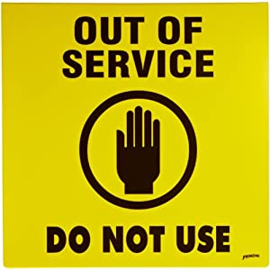 Bathroom Sign Out Of Service Com Brady 46890 Prinzing Sign Out Of