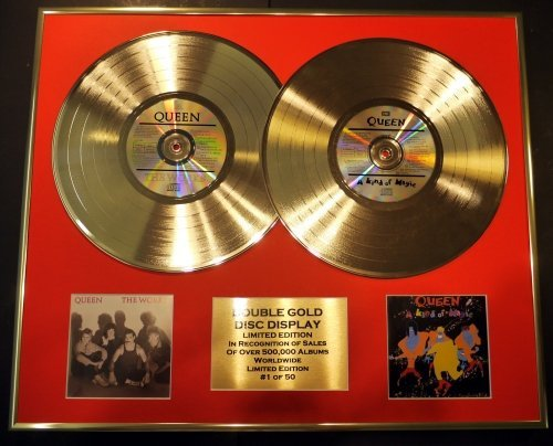 QUEEN/double CD Disco d'oro & Foto Display/Edizione LTD/Certificato di autenticità/THE WORKS & A KIND...