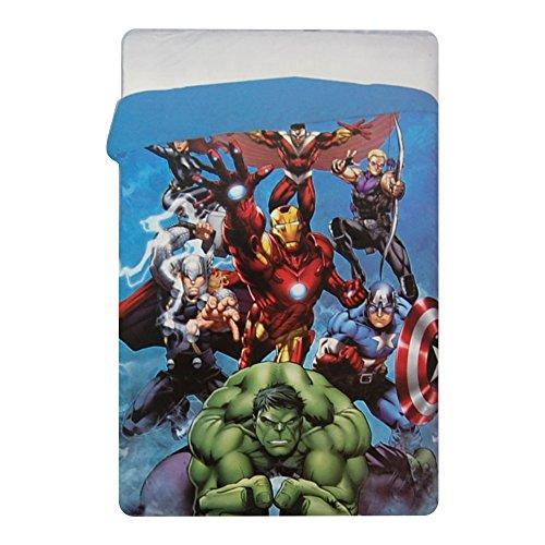 Trapunta Invernale Marvel Avengers Piumone 180x260cm Imbottitura 320gr/mq Supereroi Iron Man Capitan America Thor Green Arrow