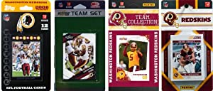 NFL Washington Redskins Four Different Licensed Trading Card Team Sets by C&I Collectables