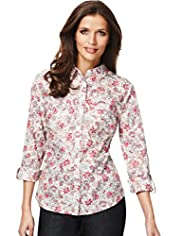 Classic Collection Pure Cotton Floral Blouse
