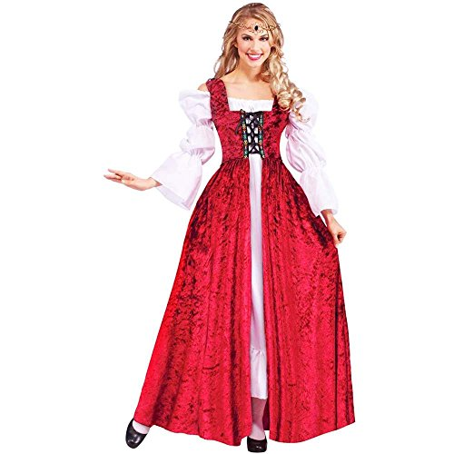 Medieval Lace-up Gown Adult Costume - Standard