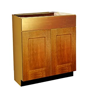 vanity cabinet 18 inch deep in a 34 5 inch height spice birch finish