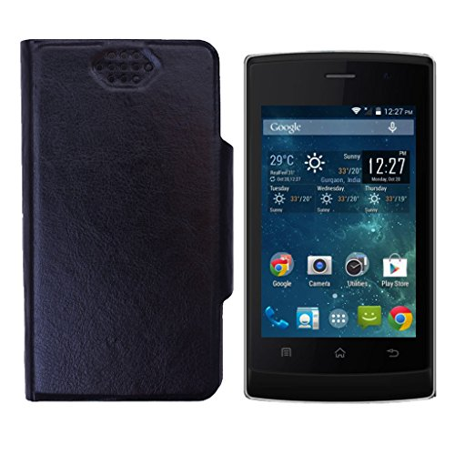 Shopme Flip cover for Panasonic T9 (Black Color)(PU Leather, Access to all Ports, complete mobile Protection,Extremely durable)  available at amazon for Rs.199